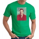Elvis T-shirt Classic Rock King Red Headshot Kelly Green Tee