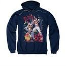 Elvis Presley Hoodie Eagle Navy Sweatshirt Hoody
