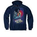 Elvis Presley Hoodie On Tour Poster Navy Sweatshirt Hoody