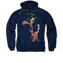 Elvis Presley Hoodie Quick Paint Navy Sweatshirt Hoody
