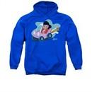 Elvis Presley Hoodie Speedway Royal Blue Sweatshirt Hoody