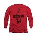 Elvis Presley Shirt Jamming Long Sleeve Red Tee T-Shirt