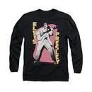 Elvis Presley Shirt Pink Rock Long Sleeve Black Tee T-Shirt