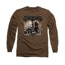 Elvis Presley Shirt TCB Cycle Long Sleeve Coffee Tee T-Shirt