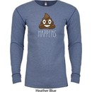 Emoji Shit Happens Long Sleeve Thermal Shirt