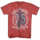Evel Knievel Shirt 75 EST 1966 Red Heather T-Shirt