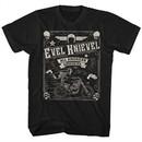 Evel Knievel Shirt All American Daredevil Black T-Shirt