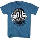 Evel Knievel Shirt Evel Ways Blue Heather T-Shirt