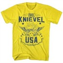 Evel Knievel Shirt Evel Ways USA Yellow T-Shirt