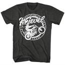 Evel Knievel Shirt I Am Evel Black Heather T-Shirt