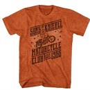 Evel Knievel Shirt Motorcycle Club Heather Orange T-Shirt