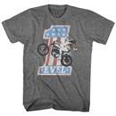 Evel Knievel Shirt One Evel Athletic Heather T-Shirt