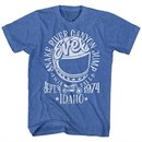 Evel Knievel Shirt Snake River Canyon Heather Blue T-Shirt