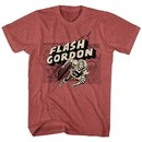 Flash Gordon Shirt Map of Mongo Red Heather T-Shirt