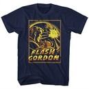 Flash Gordon Shirt Space Explosion Navy Blue T-Shirt