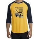 Ford Truck Shirt Driving and Tagging Bucks Raglan Tee Gold/Navy