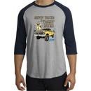 Ford Truck Shirt Driving and Tagging Bucks Raglan Tee Grey/Navy