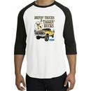 Ford Truck Shirt Driving and Tagging Bucks Raglan Tee White/Black