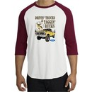 Ford Truck Shirt Driving and Tagging Bucks Raglan Tee White/Cardinal