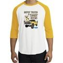 Ford Truck Shirt Driving and Tagging Bucks Raglan Tee White/Gold
