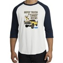 Ford Truck Shirt Driving and Tagging Bucks Raglan Tee White/Navy