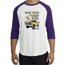 Ford Truck Shirt Driving and Tagging Bucks Raglan Tee White/Purple