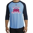 Ford Mustang Shirt Girls Run Wild Raglan Tee Carolina Blue/Navy