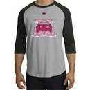Ford Mustang Shirt Girls Run Wild Raglan Tee Heather Grey/Black
