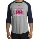 Ford Mustang Shirt Girls Run Wild Raglan Tee Heather Grey/Navy