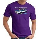 Ford Man's Best Friends Classic Truck Adult T-Shirt- Purple