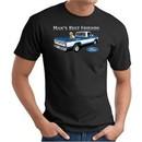 Ford Man's Best Friends Classic Truck Adult T-Shirt- Black