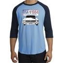 Ford Mustang Raglan Shirt USA 1964 Country Carolina Blue/Navy T-Shirt
