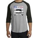Ford Mustang Raglan Shirt USA 1964 Country Heather Grey/Black T-Shirt
