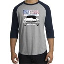 Ford Mustang Raglan Shirt USA 1964 Country Heather Grey/Navy T-Shirt