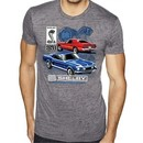 Ford Mustang Mens Shirt GT 500 Burnout Tee T-Shirt
