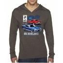Ford Mustang Mens Shirt GT 500 Lightweight Hoody Tee T-Shirt