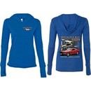 Ford Mustangs Untamed (Front & Back) Ladies Tri Blend Hoodie