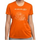Ford Tee Engine Parts Ladies Dry Wicking T-shirt