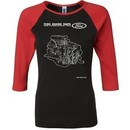 Ford Tee Engine Parts Ladies Raglan Shirt
