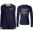 Ford Tee Mustangs Untamed (Front & Back) Ladies Long Sleeve