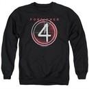 Foreigner Sweatshirt 4 Album Adult Black Sweat Shirt