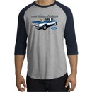 Ford Trucks Shirt Mans Best Friend Raglan Tee Heather Grey/Navy
