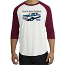 Ford Trucks Shirt Mans Best Friend Raglan Tee White/Cardinal