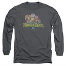 Fraggle Rock Long Sleeve Shirt Circle Logo Charcoal Tee T-Shirt