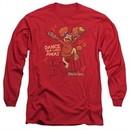 Fraggle Rock Long Sleeve Shirt Dance Red Tee T-Shirt