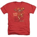 Fraggle Rock Shirt Dance Heather Red T-Shirt