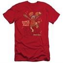 Fraggle Rock Slim Fit Shirt Dance Red T-Shirt