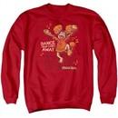 Fraggle Rock Sweatshirt Dance Adult Red Sweat Shirt