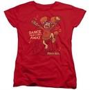 Fraggle Rock Womens Shirt Dance Red T-Shirt