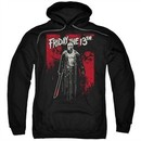 Friday the 13th Hoodie Death Curse Black Sweatshirt Hoody